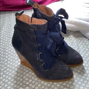 Lucky Penny wedge bootie